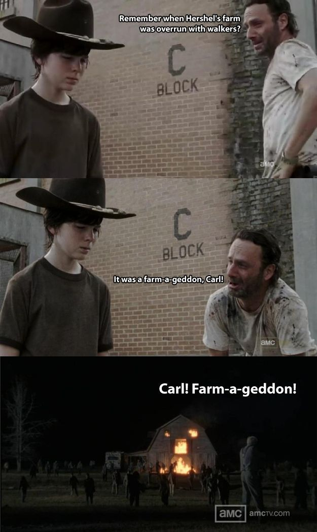 Walking dead dad joke