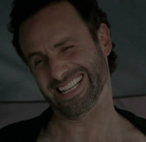 Oh Rick Grimes, you so funny. Coral will never get sick of these dad jokes.